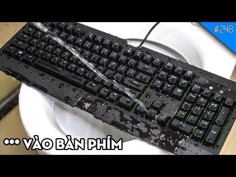 THỬ *** VÀO BÀN PHÍM CƠ CHỐNG NƯỚC IP54 Razer Blackwidow Ultimate: TẮM CŨNG KO CHẾT?!