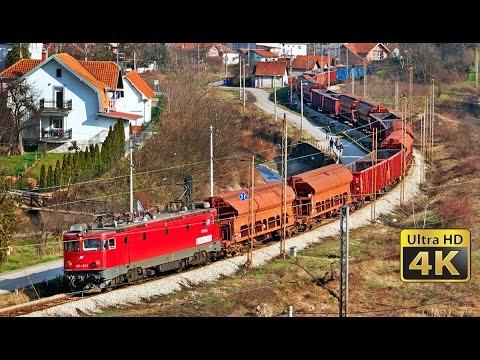Rail traffic in Serbia - Resnik 2016. - Železnički saobraćaj u Srbiji [4K]
