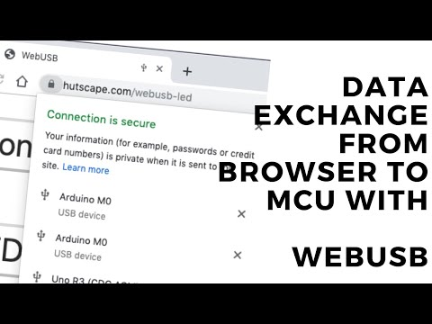 Data Exchange From Browser To MCU With WebUSB
