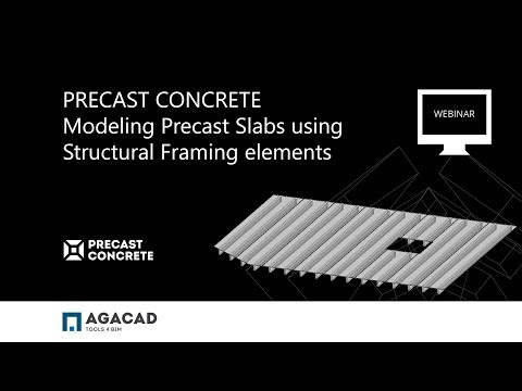 Modeling Precast Slabs using Structural Framing Elements