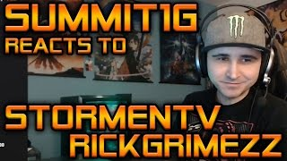 Summit1G Reacts: New RickGrimezz Video About StormenTV Hacker Accusation | H1Z1 KOTK