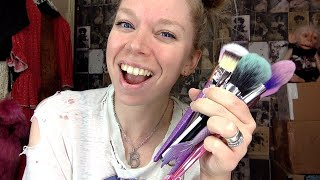 wash makeup brushes with me