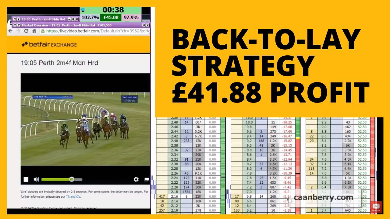Back To Lay Trading Strategy For Profit On Betfair Youtube
