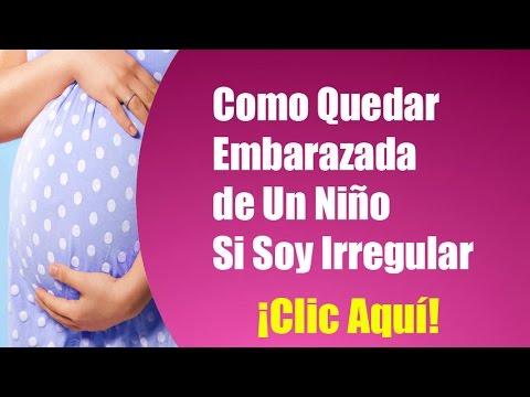 Como saber en que fecha quede embarazada si soy irregular