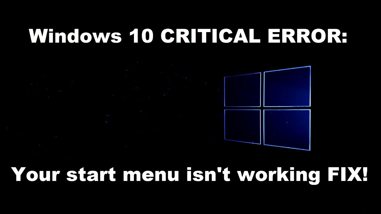 windows 10 start menu critical error dropbox