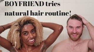 Boyfriends Tries My Natural 4c Hair Wash Day Routine