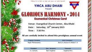 YMCA ABU DHABI - PROGRAM CLIPPINGS OF GLORIOUS HARMONY 2014