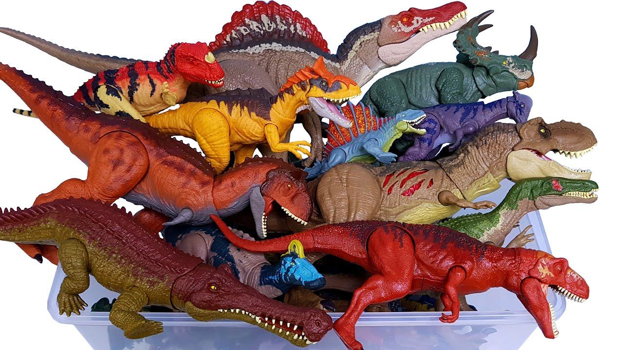 쥬라기월드 공룡 상자 스피노사우루스 티렉스 트리케라톱스 바리오닉스 안킬로사우루스 카르노타우루스
