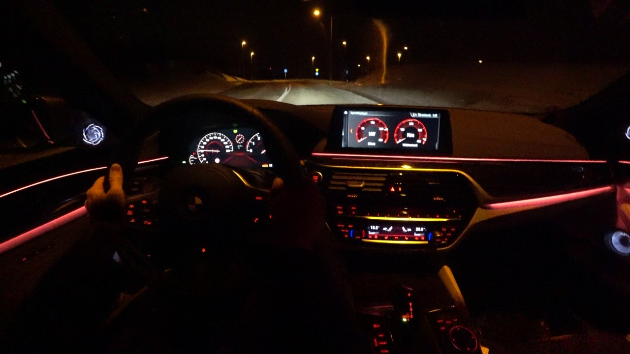 4k G30 BMW 540i XDrive POV Night Driving Country Road And Launch Control