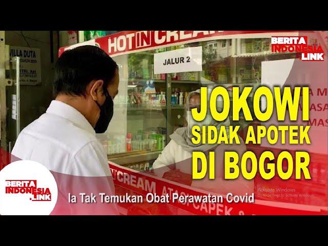 Jokowi Sidak Dadakan Apotek Terkait Ketersedian Obat Covid