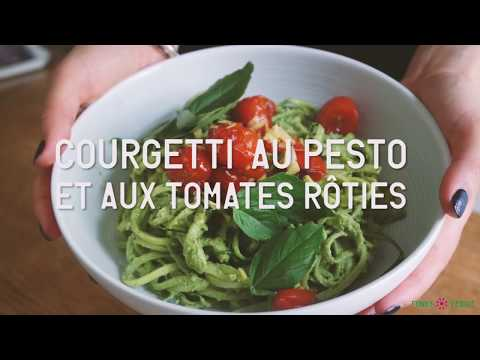 Spaghetti de Courgettes au Pesto // Vegan, Healthy & Gourmand !
