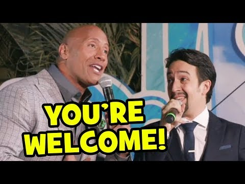 Youre Welcome   Dwayne Johnson & LinManuel Miranda At Moana World Premiere