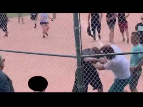 Big Adult Fight At A Youth Baseball Game!!