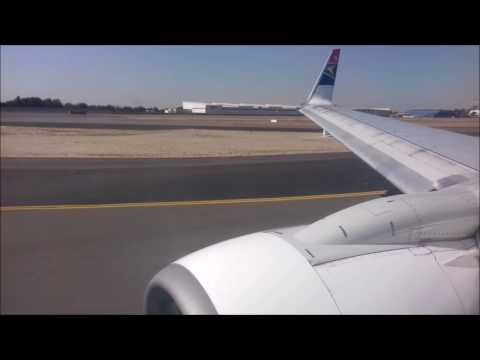 Taxi and takeoff from Johannesburg, I was flying with South African Airways, August 2016