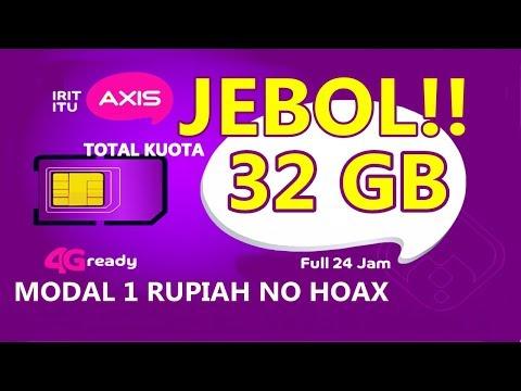Trik JEBOL Kuota Gratis Sampai 32GB Di Kartu AXIS 2018 #InspirationNEW