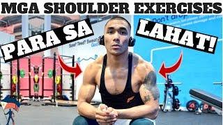 PAANO LUMAKI AT GUMANDA ANG BALIKAT | TOP 5 SHOULDER EXERCISES!