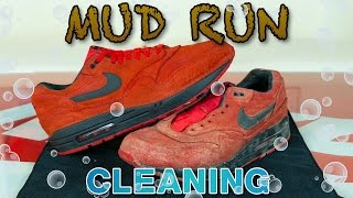 Cleaning Red Suede Air Max in the Washing Machine!