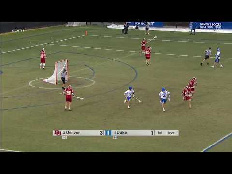 14 Saves Of Denver Vs Duke Lacrosse Feb 2018