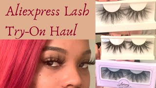 Aliexpress $2 Mink 3D Lash Try-On Haul| Unboxing & Review