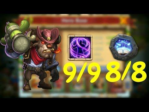 9/9 Iron Will 8/8 Revitalize Mino In Action L Castle Clash