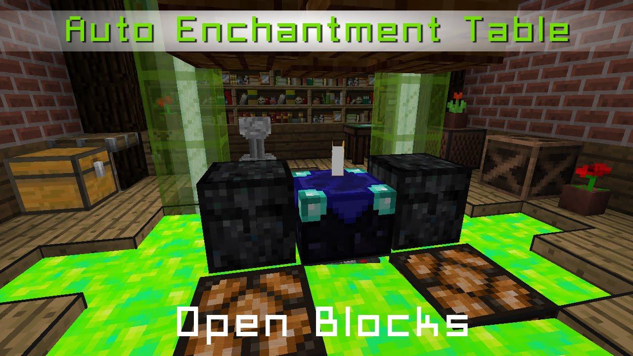 Open blocks auto enchantment table auto enchantement - Table d enchantement minecraft ...