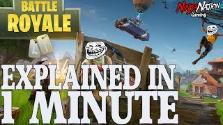 "FORTNITE ""BATTLE ROYAL"" EXPLAINED IN 1 MINUTE ! TRY NOT TO LAUGH XD"
