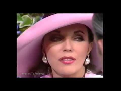 JOAN COLLINS Live TV  ROYAL ASCOT June 1988 BBC DYNASTY