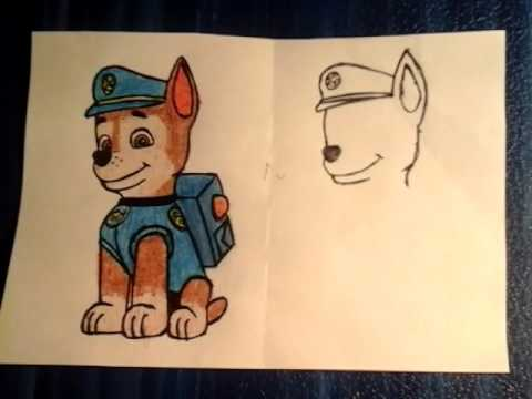 Запрос. Как нарисовать Чейза (Щенячий патруль)?)))