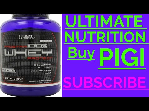 Ultimate nutrition Prostar 100% whey protein   unboxing   PIGI