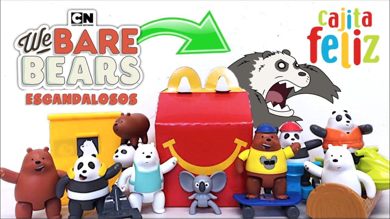 Cajita Feliz ESCANDALOSOS (We Bare Bears) PARTE 2   McDonalds Colección Internacional 2021 TOY SHOTS