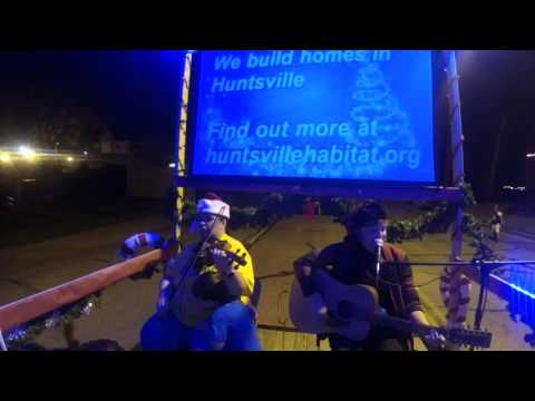 Live Music from the Habitat For Humanity float   Huntsville Christmas Parade