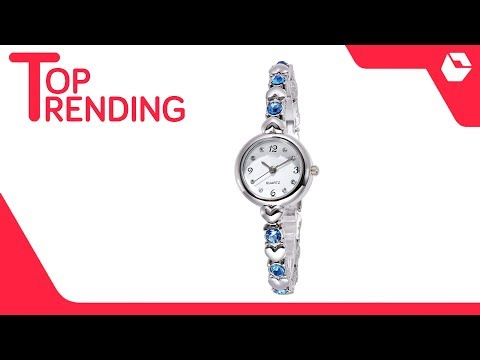 Crab Metal Round Women's Watch With Hearts | Best Selling Watches