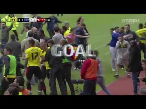 Watford Vs Leister Deeney Last Minute Goal Beat Drop