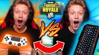 FORTNITE PC vs. FORTNITE PS4!! (Which is HARDER?)