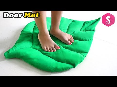 Leaf Shaped DOORMAT DIY idea from Old Saree & old Clothes By Sonali Creations