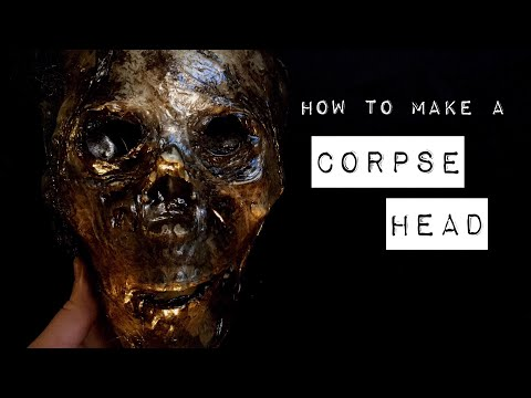 How to Make a CORPSE Head Halloween Prop