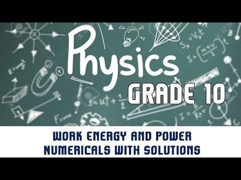 Work Energy and Power | Numericals with Solutions | Part 3