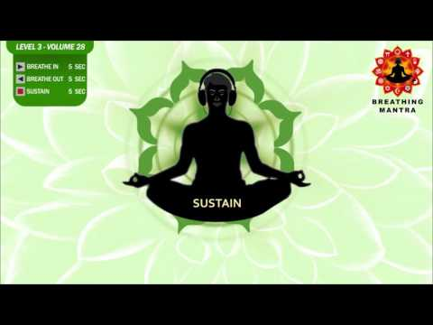 Guided Breathing Mantra (5-5-5) Pranayama Yoga Breathing Exercise Level 3 Vol 28