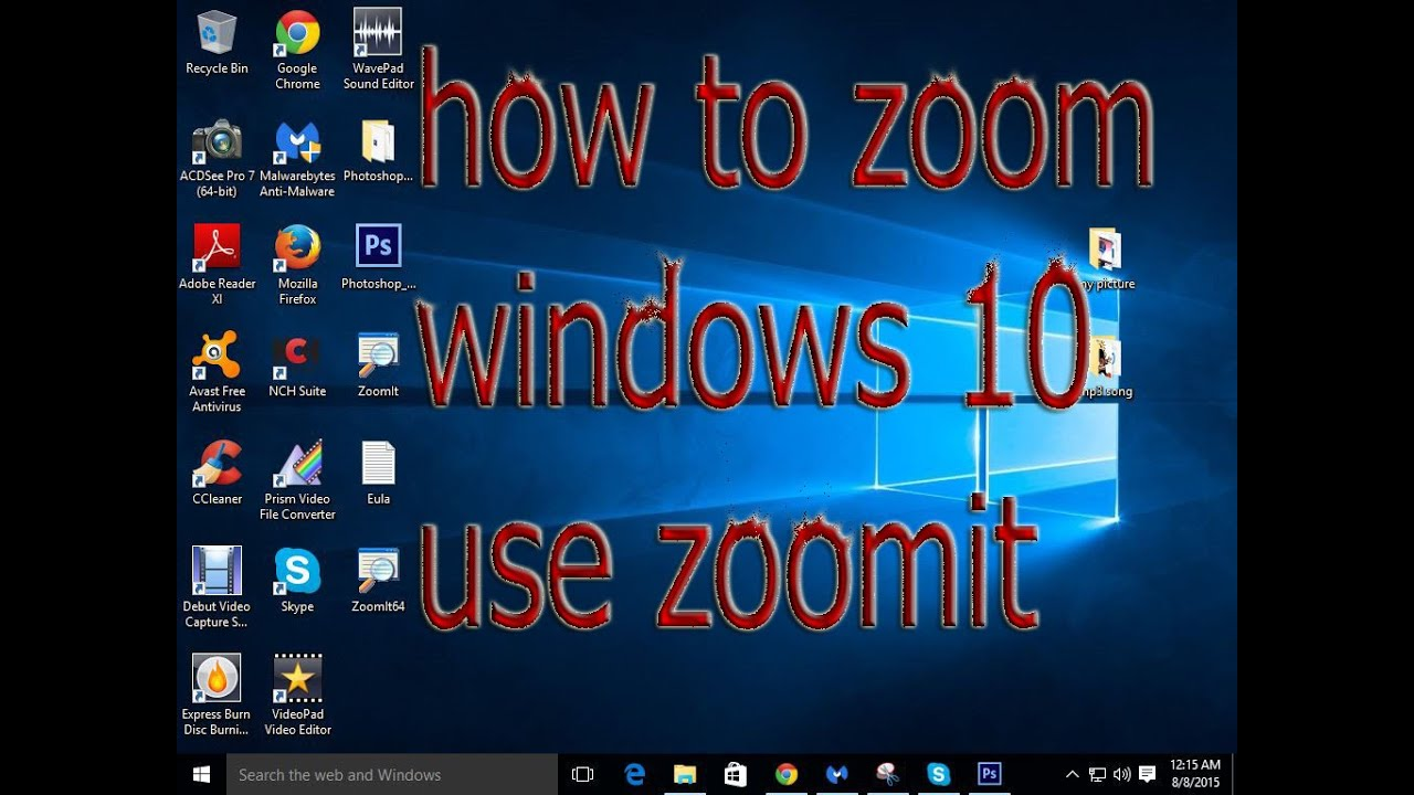 how to Zoom windows 10  YouTube