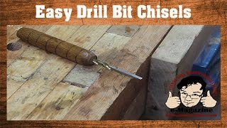 Make your own wood chisels out of old drill bits- Create custom sizes!