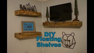 How To Build Pallet Board Floating Shelves