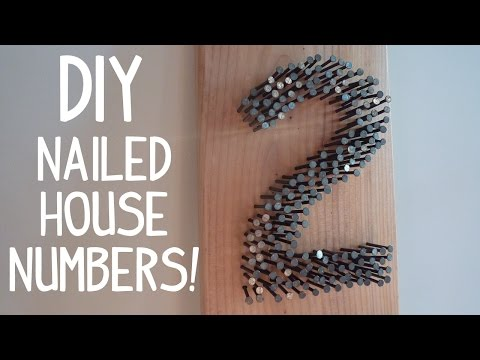 DIY Rustic Modern House Numbers