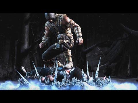 Mortal Kombat X - Scorpion/Sub-Zero Mesh Swap Intro, X Ray, Victory Pose, Fatalities and Brutality - 동영상