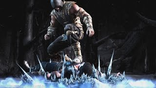 Mortal Kombat X - Scorpion/Sub-Zero Mesh Swap Intro, X Ray, Victory Pose, Fatalities and Brutality