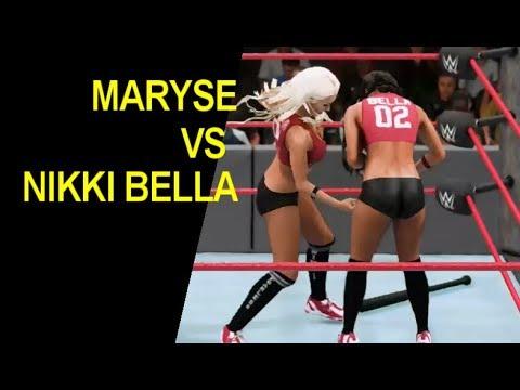 WWE 2K18 Nikki Bella vs Maryse -  20 Minute Iron Woman