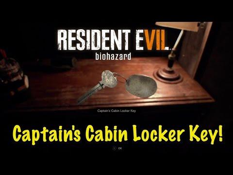 Captains Cabin Locker Key Location - Resident Evil 7 (RE7)