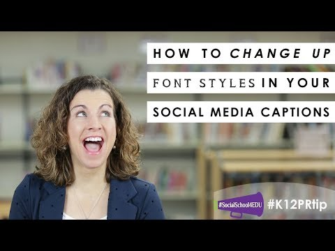 How To Change Up Font Styles In Your Social Media Captions
