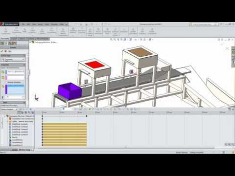 SolidWorks Education Motion: Packaging Machine Part 2