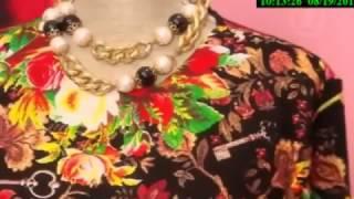 Яркое платье в пол своими руками | Ольга Никишичева
