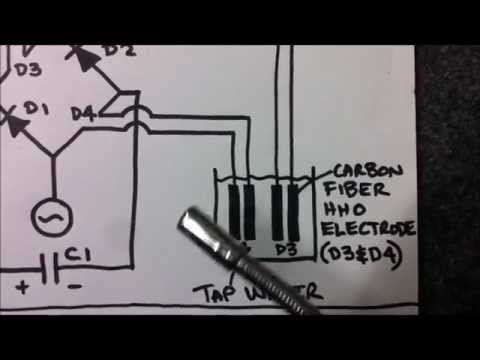 Experiment #5 - Full Wave Carbon Fibre HHO Bridge Rectifier Demonstration